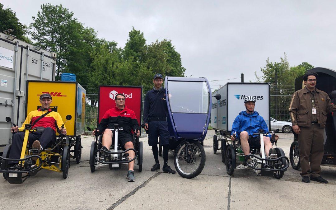 Paketzustellung mit Lastenrädern wird fortgesetzt