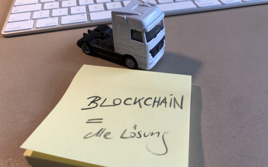 Logistik: Blockchain kann eine Lösung sein