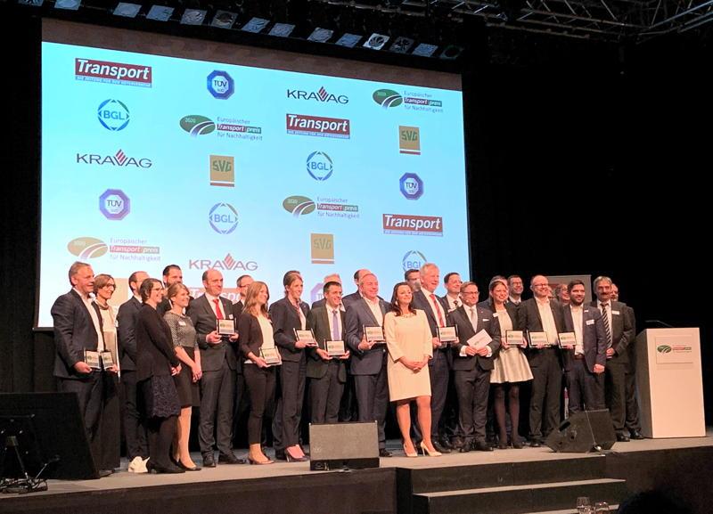 Europäischer Transportpreis für Nachhaltigkeit: 15 Preisträger