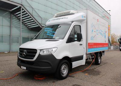 Mercedes Sprinter mit Kühlaufbau von Fröhlich Kühlfahrzeuge