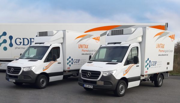 Transporter für Impfstoff-Lieferungen