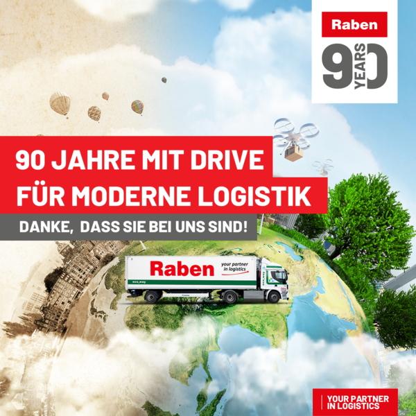 90 Jahre: Raben Group stellt nachhaltige Logistik in den Fokus